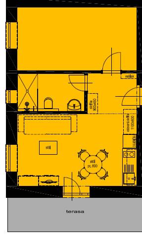 Pôdorys apartmánu 1