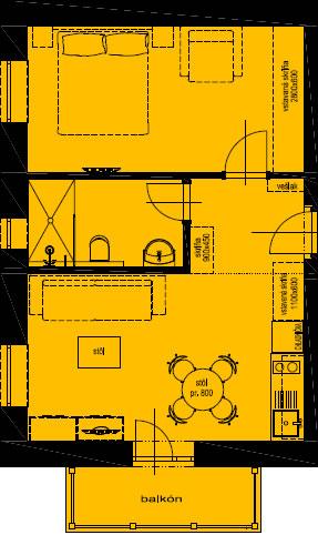 Pôdorys apartmánu 7
